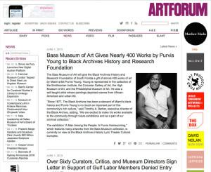 Purvis Young artforum news